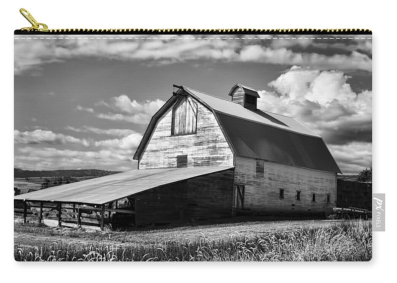 Carry-all Pouch featuring the photograph Big Barn Near Ellensburg Washington 2 by Cathy Anderson