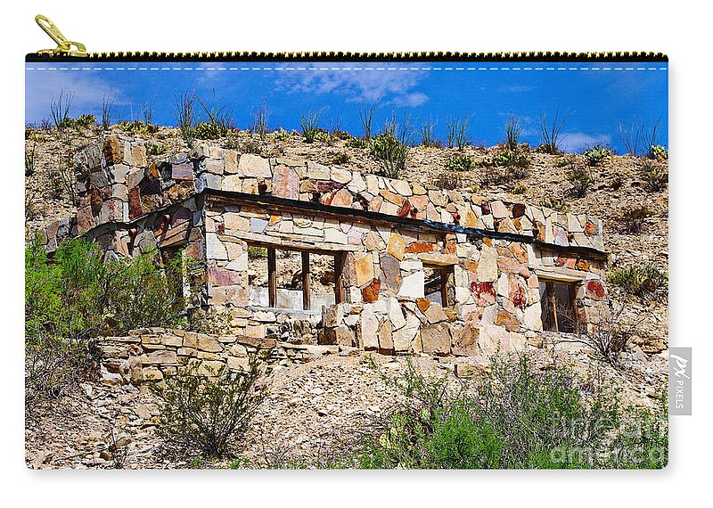 Big Bend National Park Carry-all Pouch featuring the photograph Big Bend Architecture by Gary Richards