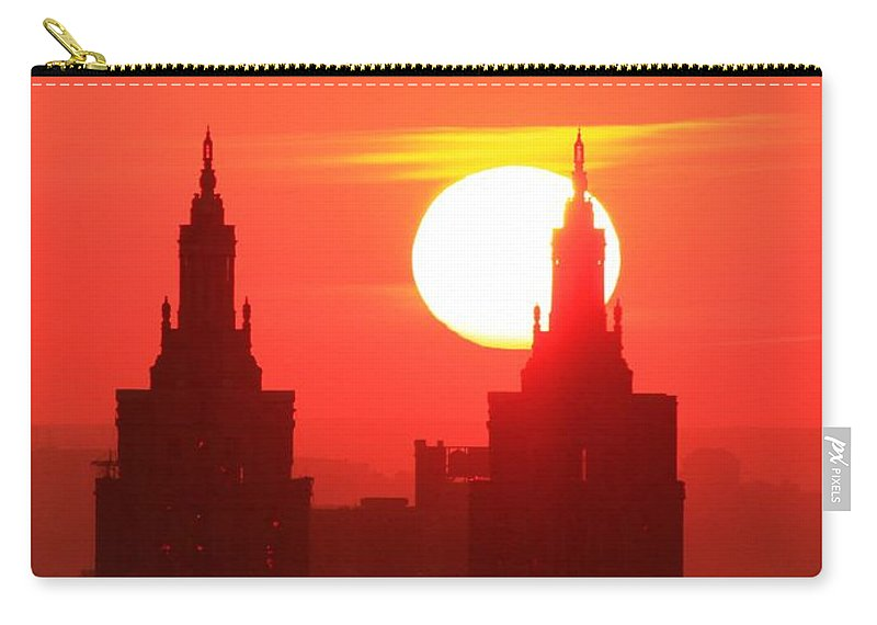 Sunset Carry-all Pouch featuring the photograph Big Bright Sun by Catie Canetti