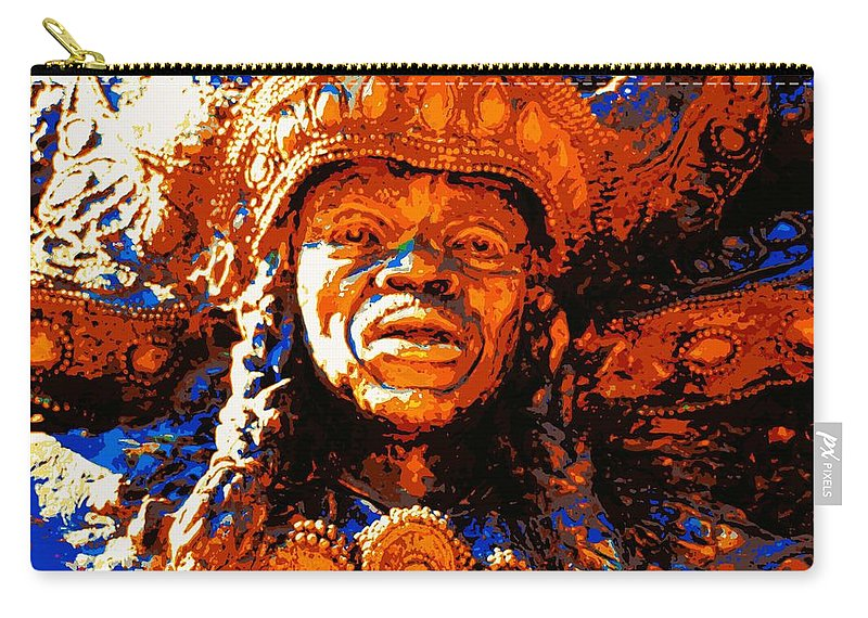 New Orleans Carry-all Pouch featuring the photograph Big Chief Tootie by Cathy Smith