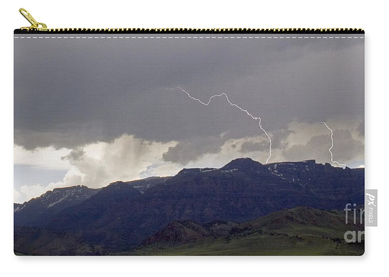 Lightning Carry-all Pouch featuring the photograph Big Creek Storm by J L Woody Wooden