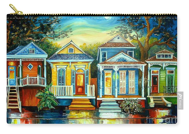 New Orleans Carry-all Pouch featuring the painting Big Easy Moon by Diane Millsap