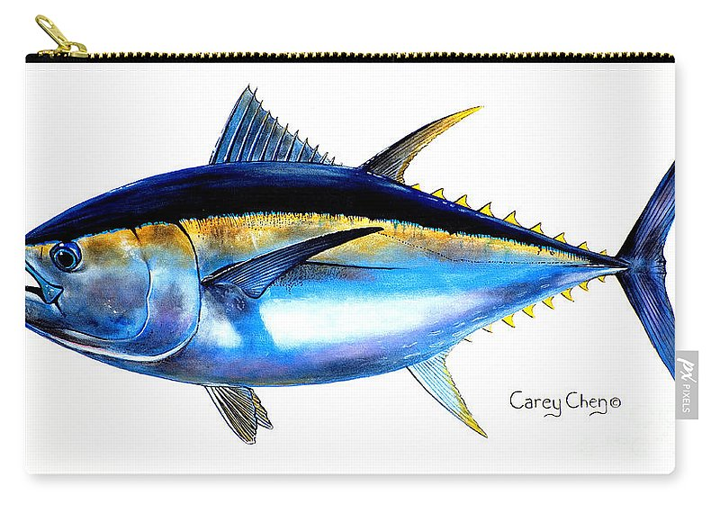 Tuna Carry-all Pouch featuring the painting Big Eye Tuna by Carey Chen