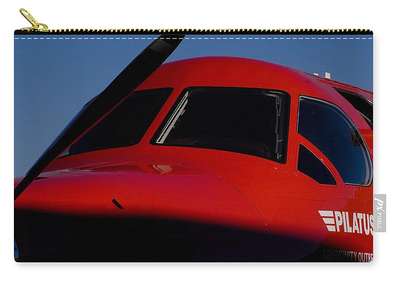 Pilatus Pc 12 Golden Eagle Carry-all Pouch featuring the photograph Big Eyes by Paul Job