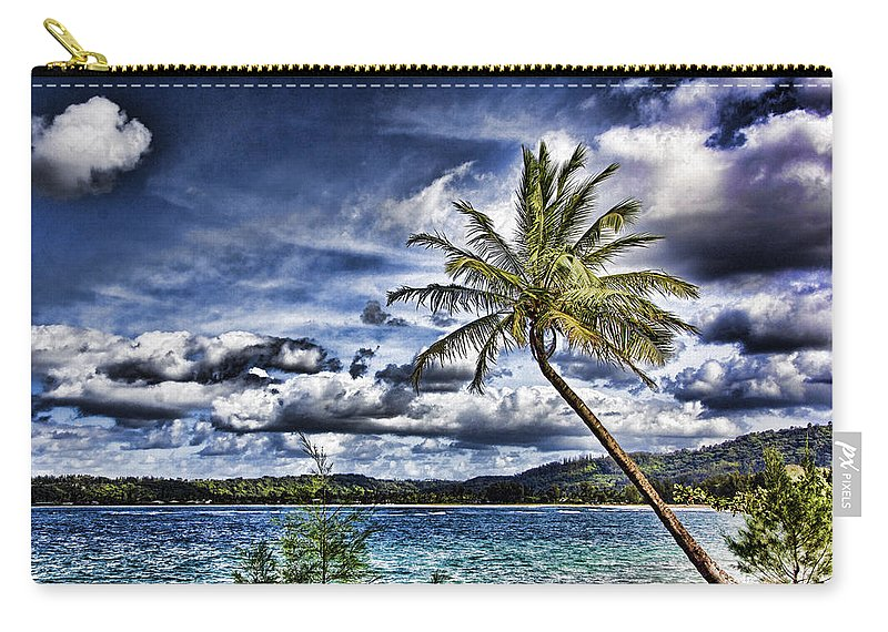 Hawaii Carry-all Pouch featuring the photograph Big Island Beaches V2 by Douglas Barnard