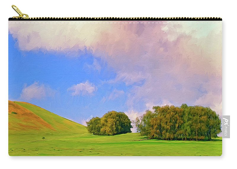 Big Island Ranch Carry-all Pouch featuring the painting Big Island Ranch by Dominic Piperata