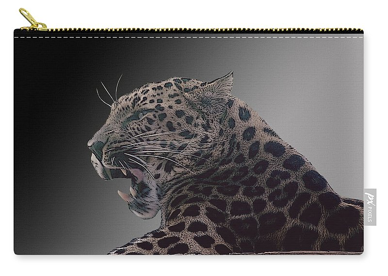 Leopard Carry-all Pouch featuring the photograph Big Kitty Kitty by Cindy Angiel