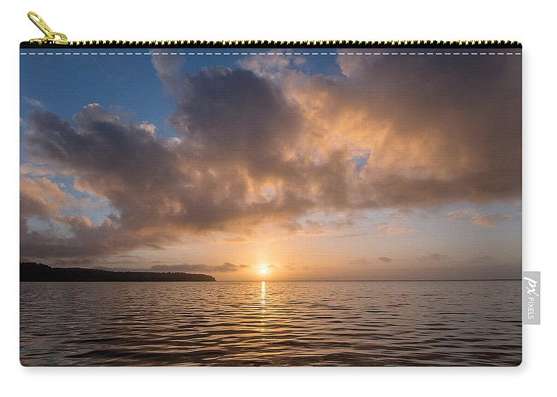 Big Lagoon Carry-all Pouch featuring the photograph Big Lagoon Winter Evening by Greg Nyquist