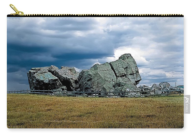 Scenic Carry-all Pouch featuring the painting Big Rock 2 by Terry Reynoldson