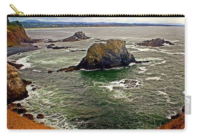 Beach Carry-all Pouch featuring the photograph Big Rock Beach by Marty Koch