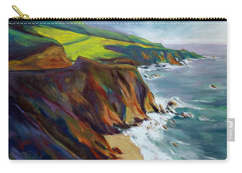 Big Carry-all Pouch featuring the painting Big Sur 1 by Konnie Kim