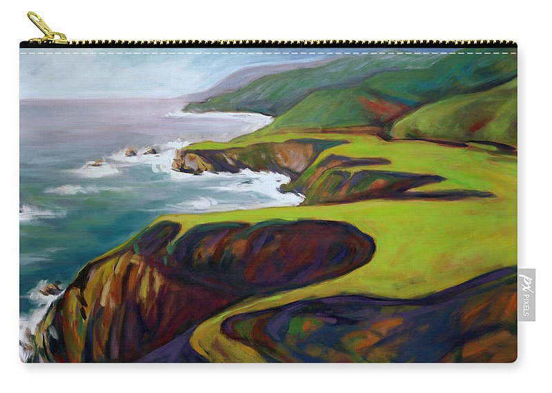 Big Carry-all Pouch featuring the painting Big Sur 2 by Konnie Kim