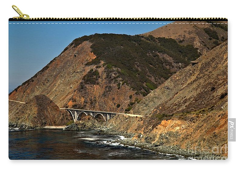 Big Sur Carry-all Pouch featuring the photograph Big Sur Bridge by Adam Jewell