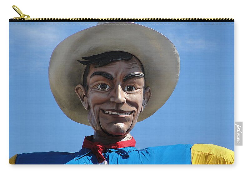 Big Tex Carry-all Pouch featuring the photograph Big Tex by Charlie and Norma Brock