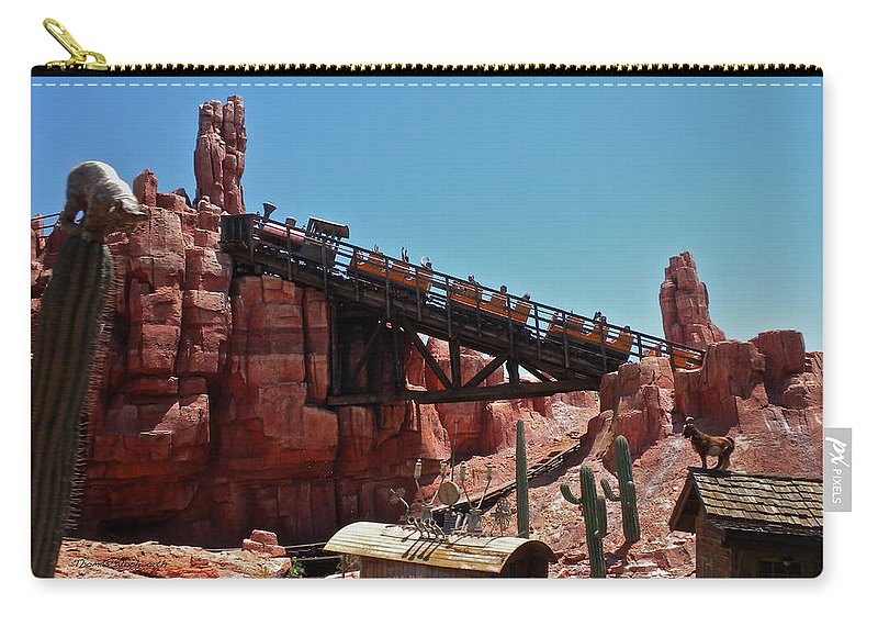 Thunder Mountain Carry-all Pouch featuring the photograph Big Thunder Mountain Walt Disney World by Thomas Woolworth