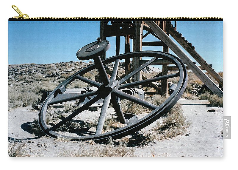 Big Wheel Bodie Carry-all Pouch featuring the digital art Big Wheel Bodie by Barbara Snyder