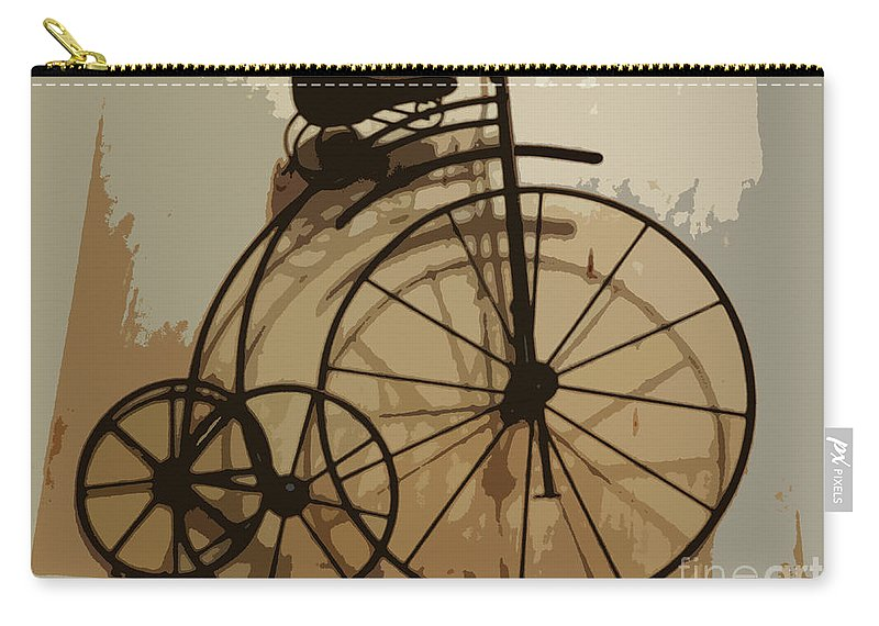 Bicycle Carry-all Pouch featuring the photograph Big Wheel Trike by Ecinja Art Works
