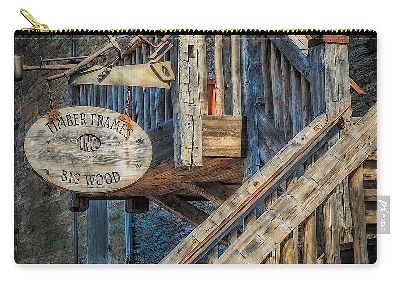 Timber Carry-all Pouch featuring the photograph Big Wood by Paul Freidlund