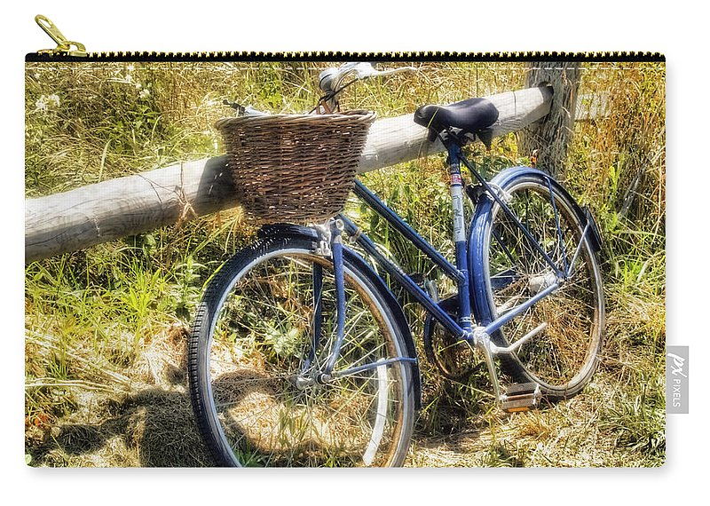 Nantucket Carry-all Pouch featuring the photograph Bike At Nantucket Beach by Tammy Wetzel