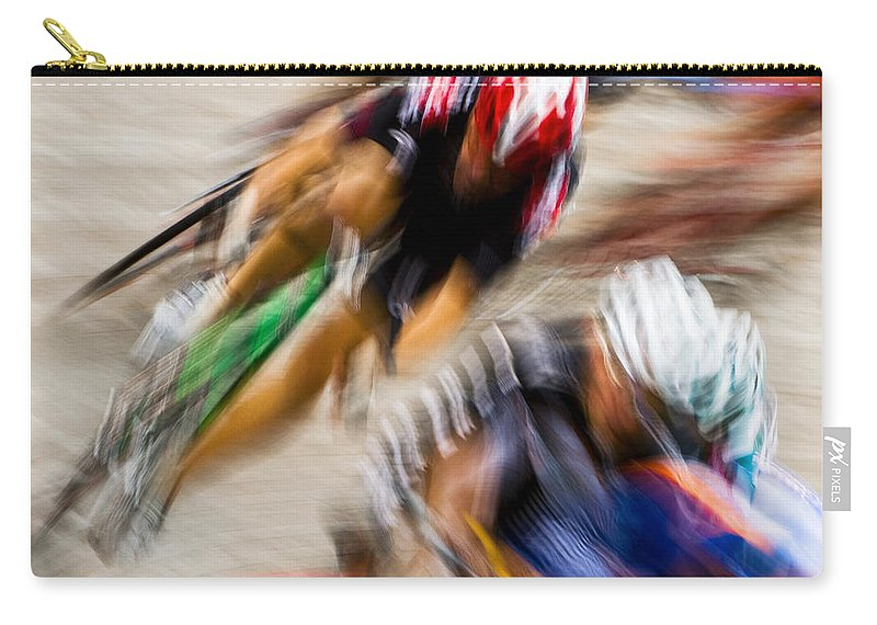 Transportation Carry-all Pouch featuring the photograph Bike Race II by Joe Mamer