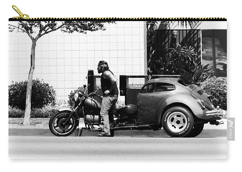 Motorcycles Carry-all Pouch featuring the photograph Biker by Karl Rose