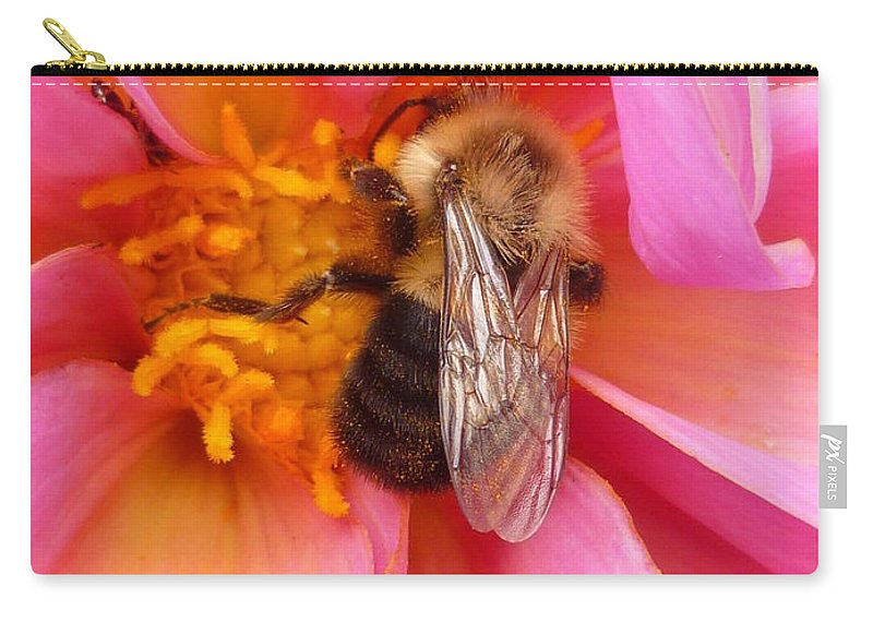 Flower Carry-all Pouch featuring the photograph Billy B Dahlia and company by Lingfai Leung