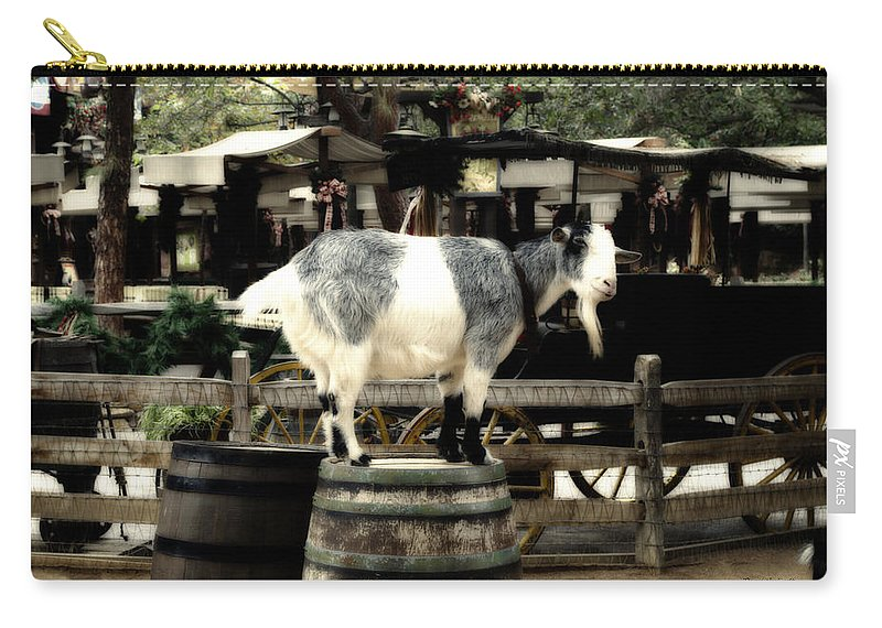 Disney Carry-all Pouch featuring the photograph Billy Goat Big Thunder Ranch Frontierland Disneyland by Thomas Woolworth