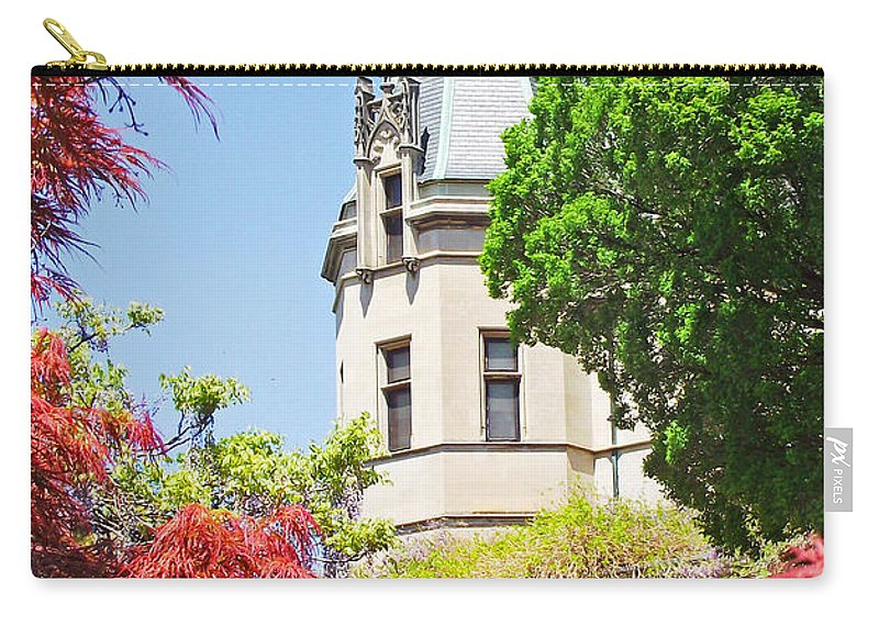 Biltmore Carry-all Pouch featuring the photograph Biltmore And Japanese Maple Trees by Duane McCullough