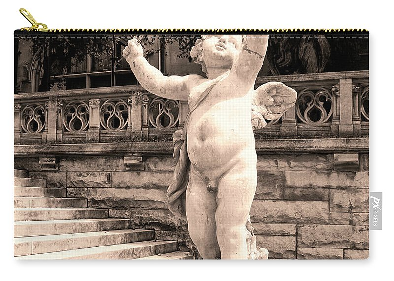 Asheville Carry-all Pouch featuring the photograph Biltmore Cherub Asheville Nc by William Dey