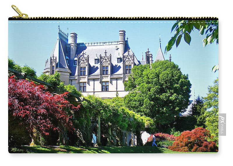 Biltmore Carry-all Pouch featuring the photograph Biltmore House And Gardens by Duane McCullough