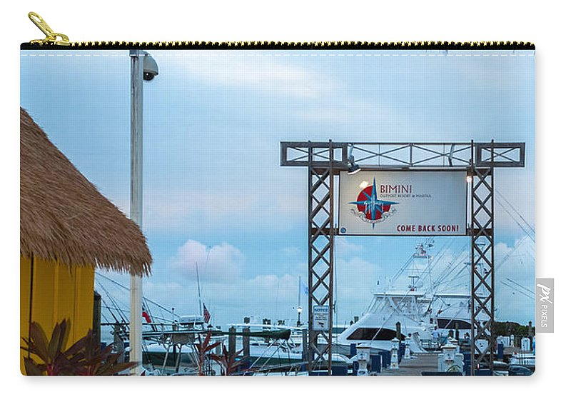 Alice Carry-all Pouch featuring the photograph Bimini Guy Harvey Outpost by Ed Gleichman