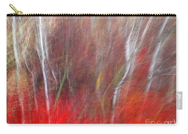 Blur Carry-all Pouch featuring the photograph Birch Trees Abstract by Tara Turner