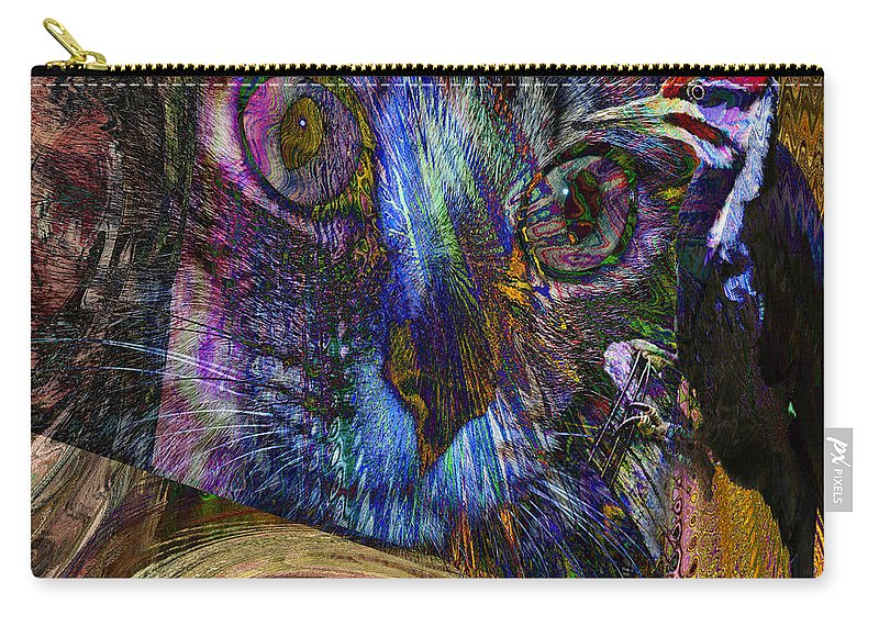 Bird Carry-all Pouch featuring the digital art Bird Cage by Joseph Mosley