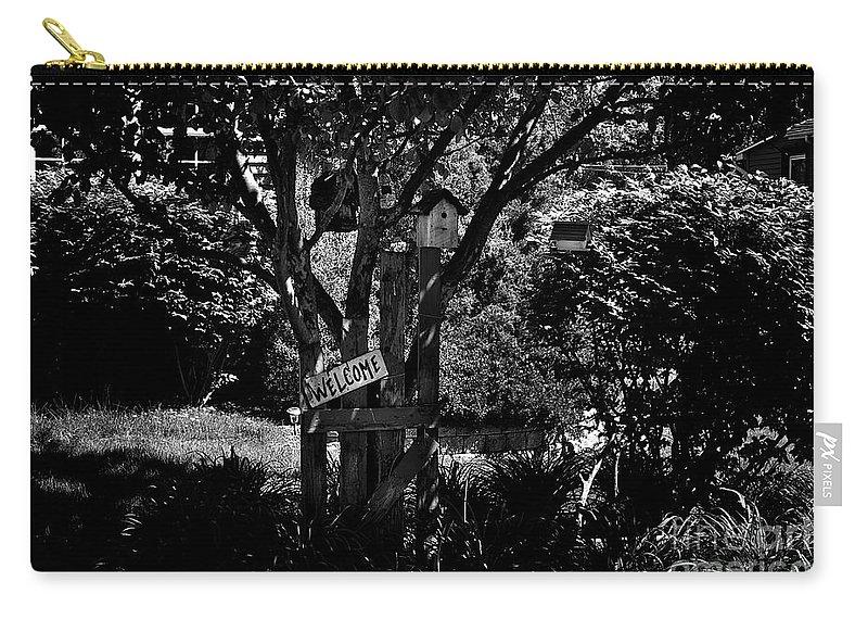 Bird Carry-all Pouch featuring the photograph Bird Condominium by Frank J Casella