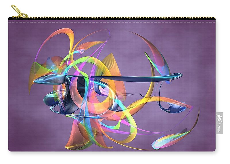 Abstract Art Canvas Prints Carry-all Pouch featuring the digital art Bird-of-paradise - Abstract by Louis Ferreira