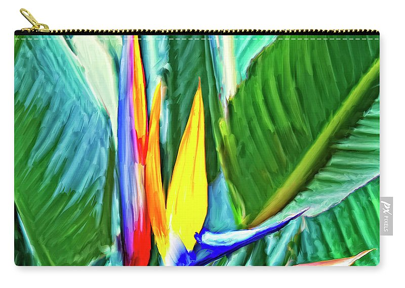 Bird Of Paradise Carry-all Pouch featuring the painting Bird Of Paradise by Dominic Piperata