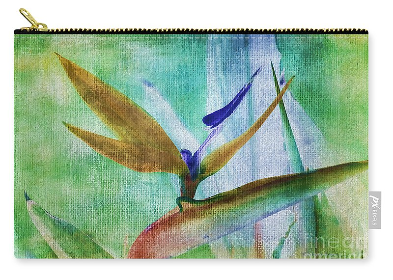Bird Paradise Carry-all Pouch featuring the photograph Bird Of Paradise Watercolor by Deborah Benoit