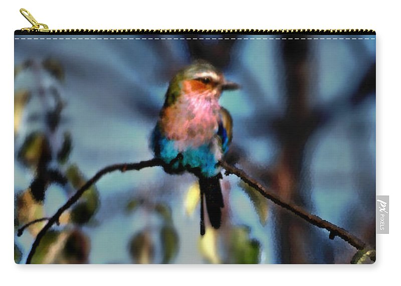 Nature Carry-all Pouch featuring the photograph Bird On A Limb by Steve Karol