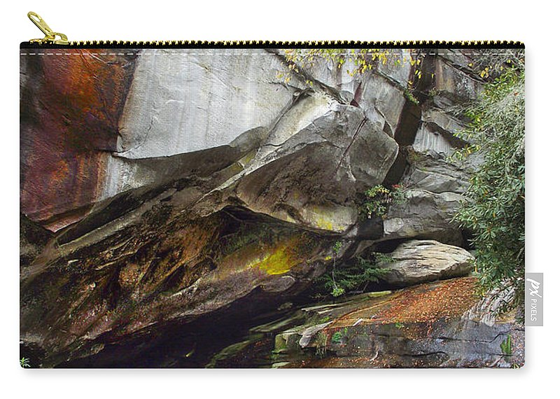 Waterfall Carry-all Pouch featuring the photograph Bird Rock Waterfall by Duane McCullough