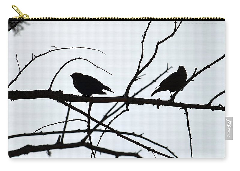 Birds Carry-all Pouch featuring the photograph Evening Silhouettes by Jaunine Roberts