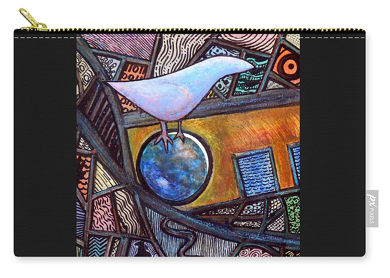 Bird Carry-all Pouch featuring the painting Birdball by James Raynor