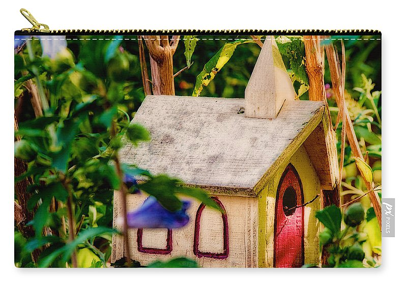 Birdhouse Carry-all Pouch featuring the photograph Birdhouse Church by David Kay