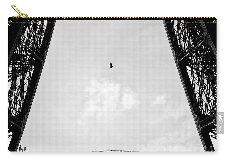 Eiffel Tower Carry-all Pouch featuring the photograph Birds-eye View by Dave Bowman