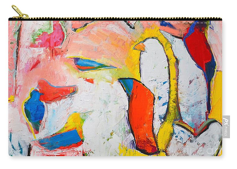 Abstract Carry-all Pouch featuring the painting Birds In Paradise by Ana Maria Edulescu