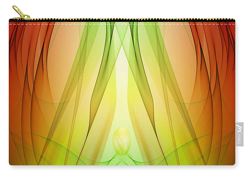 Birth Carry-all Pouch featuring the digital art Birth By Sleep by Angelina Vick