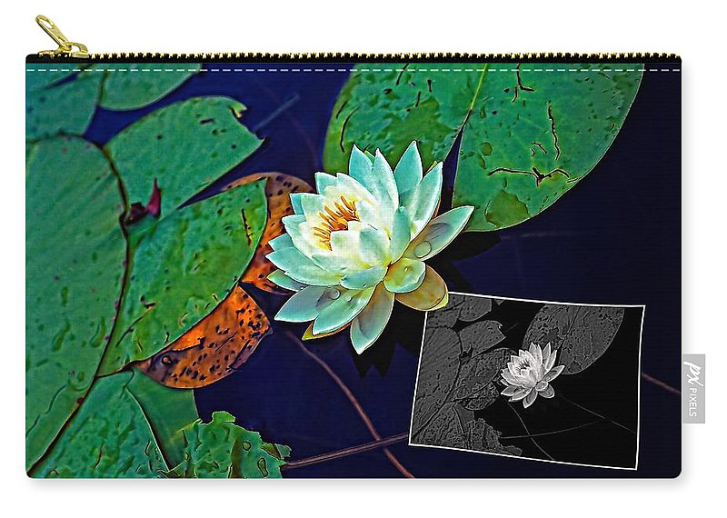 Water Lily Carry-all Pouch featuring the photograph Birth Of An Image by Steve Harrington