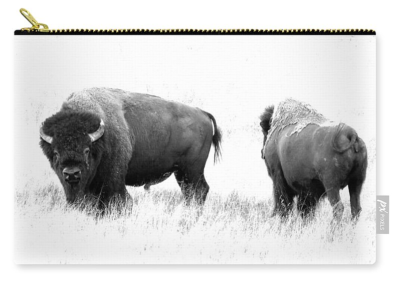 Bison Carry-all Pouch featuring the photograph Bison by Athena Mckinzie