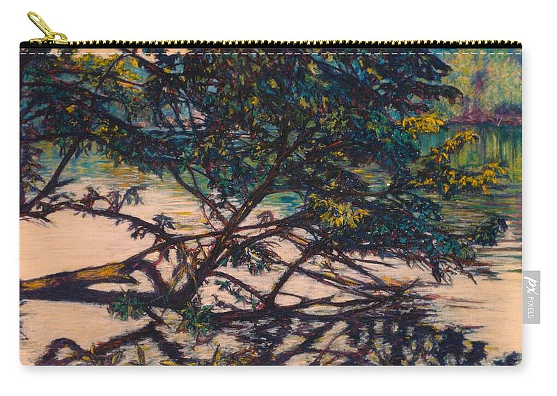 Landscape Carry-all Pouch featuring the painting Bisset Park Original by Kendall Kessler