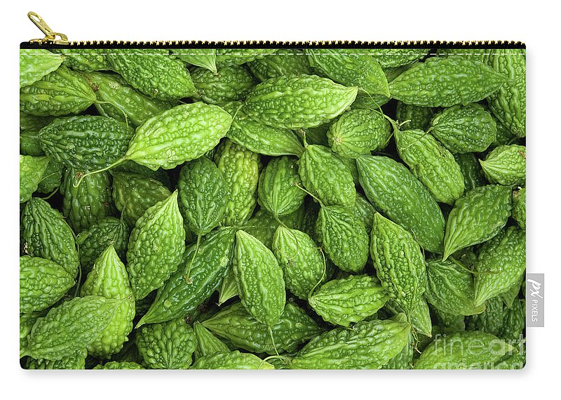 Green Carry-all Pouch featuring the photograph Bitter Melons by Rick Piper Photography