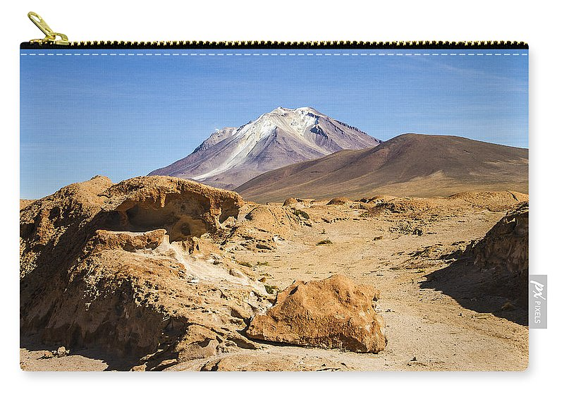 Desert Carry-all Pouch featuring the photograph Bizarre Landscape Bolivia by For Ninety One Days